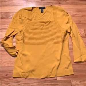 Cable & Gauge mustard sweater -size L